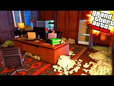 GTA V - AN OFFICE FULL OF MONEY ! (After  Selling Large Warehouses)