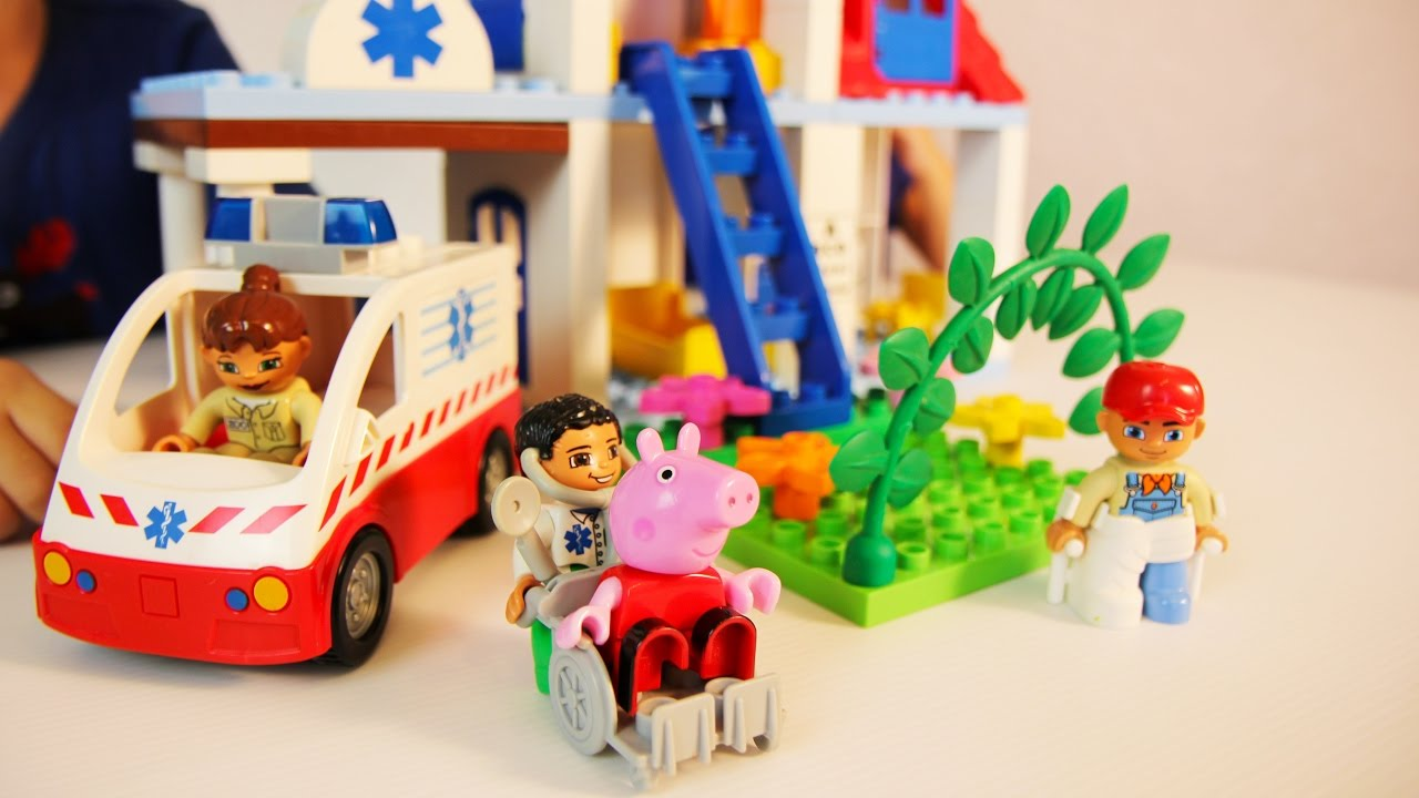 Мультик с игрушками Свинка Пеппа и Джордж в больнице Новые ...