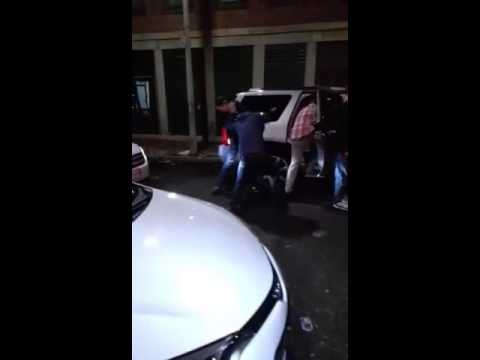 Man gets slammed on neck
