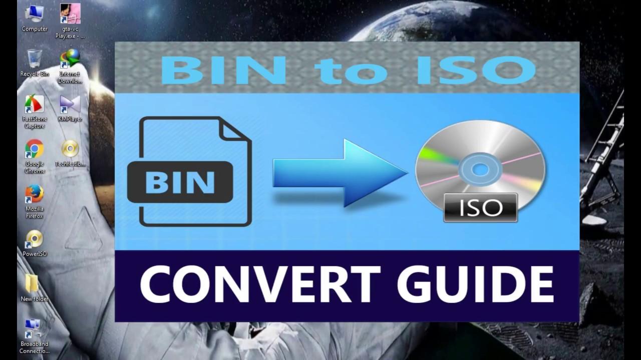 convert bin to iso windows 10