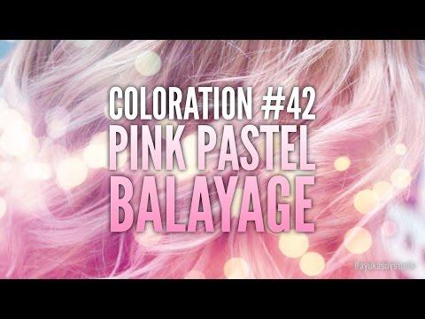 Coloration #42 Pink Pastel Balayage  Пастельный розовый балаяж Блоранж