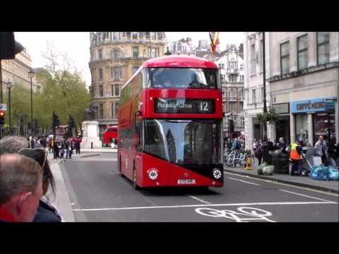 Buses at Trafalgar Square 25/04/2015