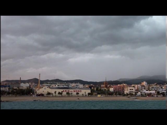 Tempesta arribant a la costa central - Badalona  - Setembre 2016