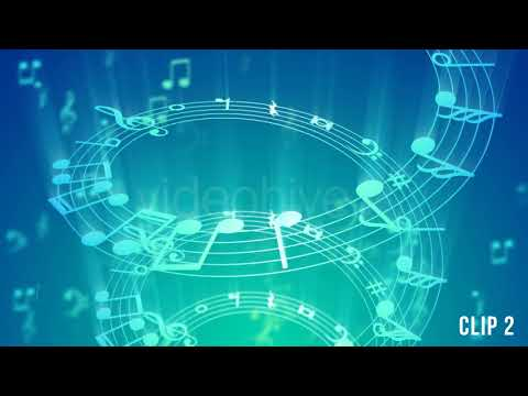 Music Notes Background - 2 Clips