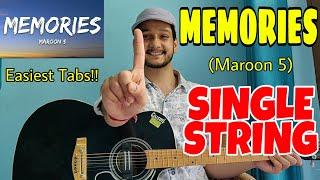 Baixar MEMORIES (Maroon 5)😍 - SINGLE STRING Guitar tabs Lesson! | Easiest Guitar Lessons for Beginners!!