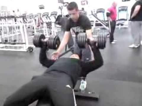 15 Year Old Benching 45kg99 Pound Dumbells