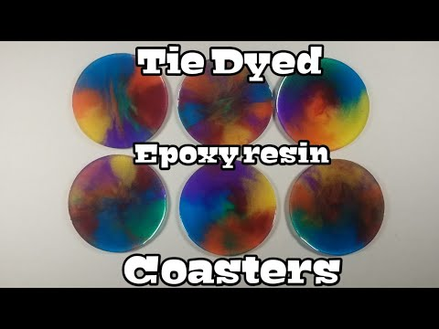 How to make Tie dyed epoxy resin coasters