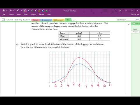 FOM11 S.3 (4/5) Demonstrate an understanding of and ability to apply the Normal Distribution.