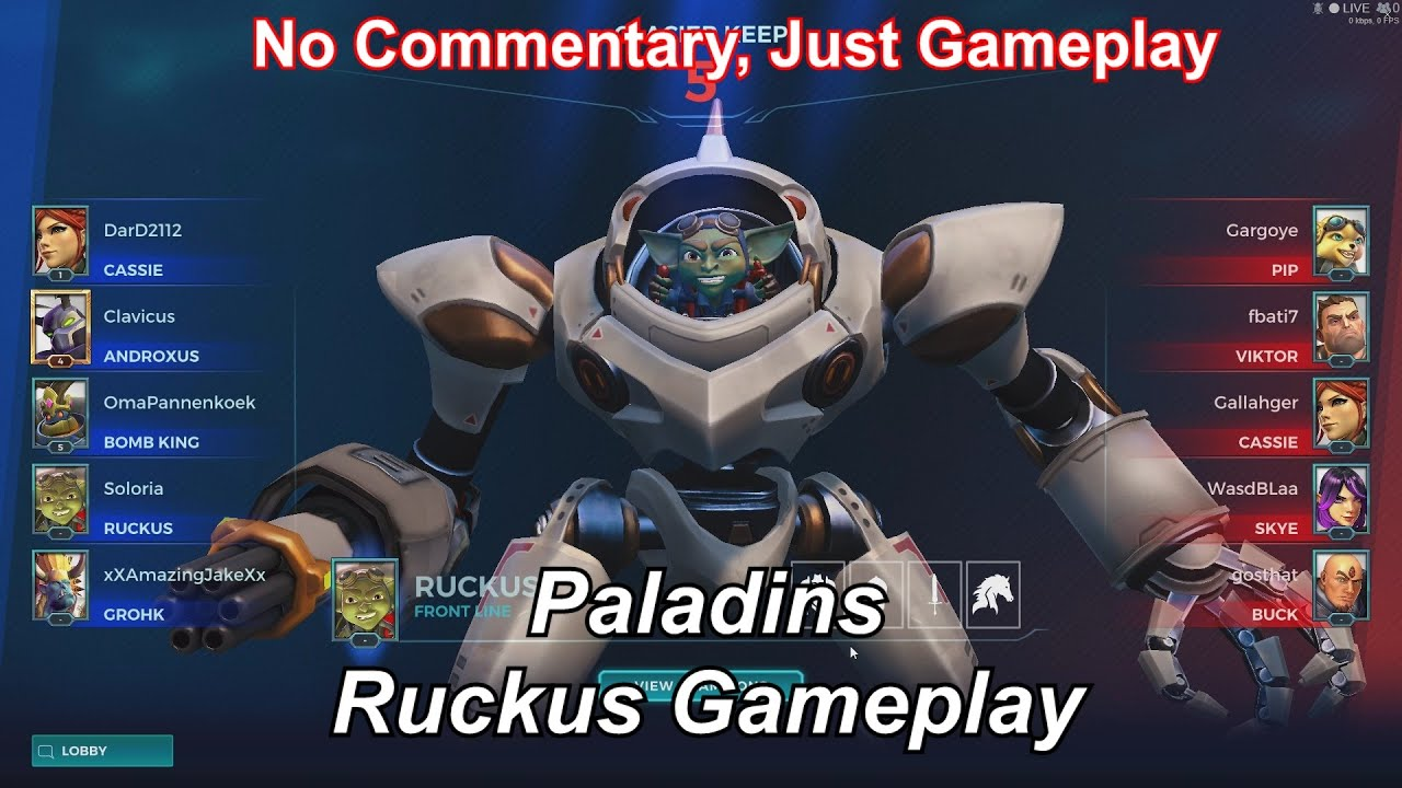 Paladins Ruckus Gameplay No Commentary Just Gameplay Youtube
