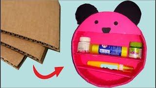 Panda shape shelf from cardboard-handmade shelf DIY -Tuber Tip