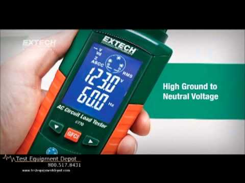 Extech Ac Circuit Load Tester Ct70 Youtube