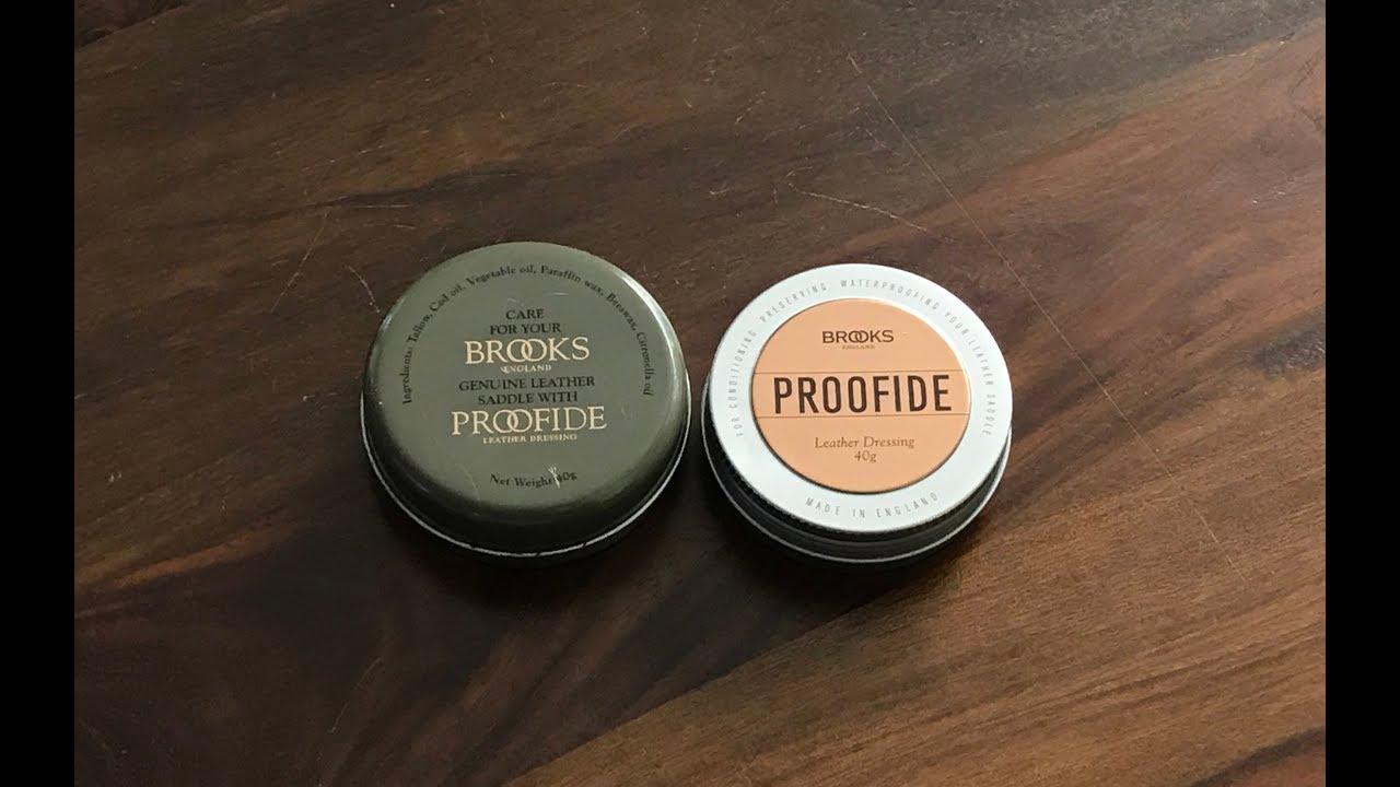 92c38b9671 Brooks England Old Proofide vs New Proofide (2018) - YouTube