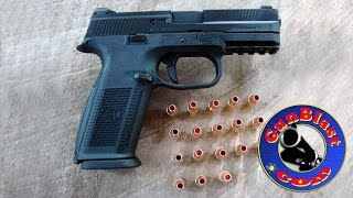 shooting the fns 9 striker fired 9mm semi auto pistol from fnh usa gunblast com