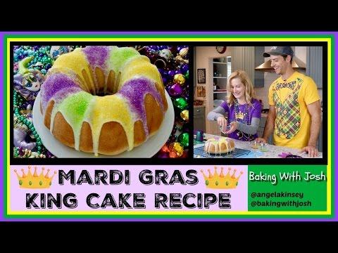 Mardi Gras King Cake Recipe!   Baking With Josh & Ange
