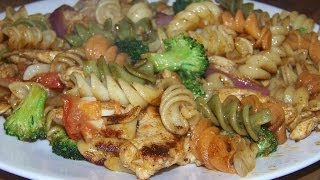 Chicken Balsamic Herb Garlic Tri Pasta 1/2 Chef John The Ghetto Gourmet