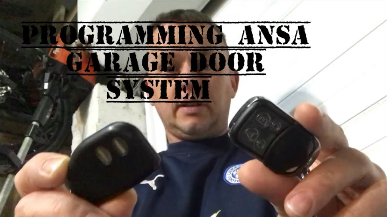 Ansa Garage Door Remote How To Program Clone Ebay Making A
