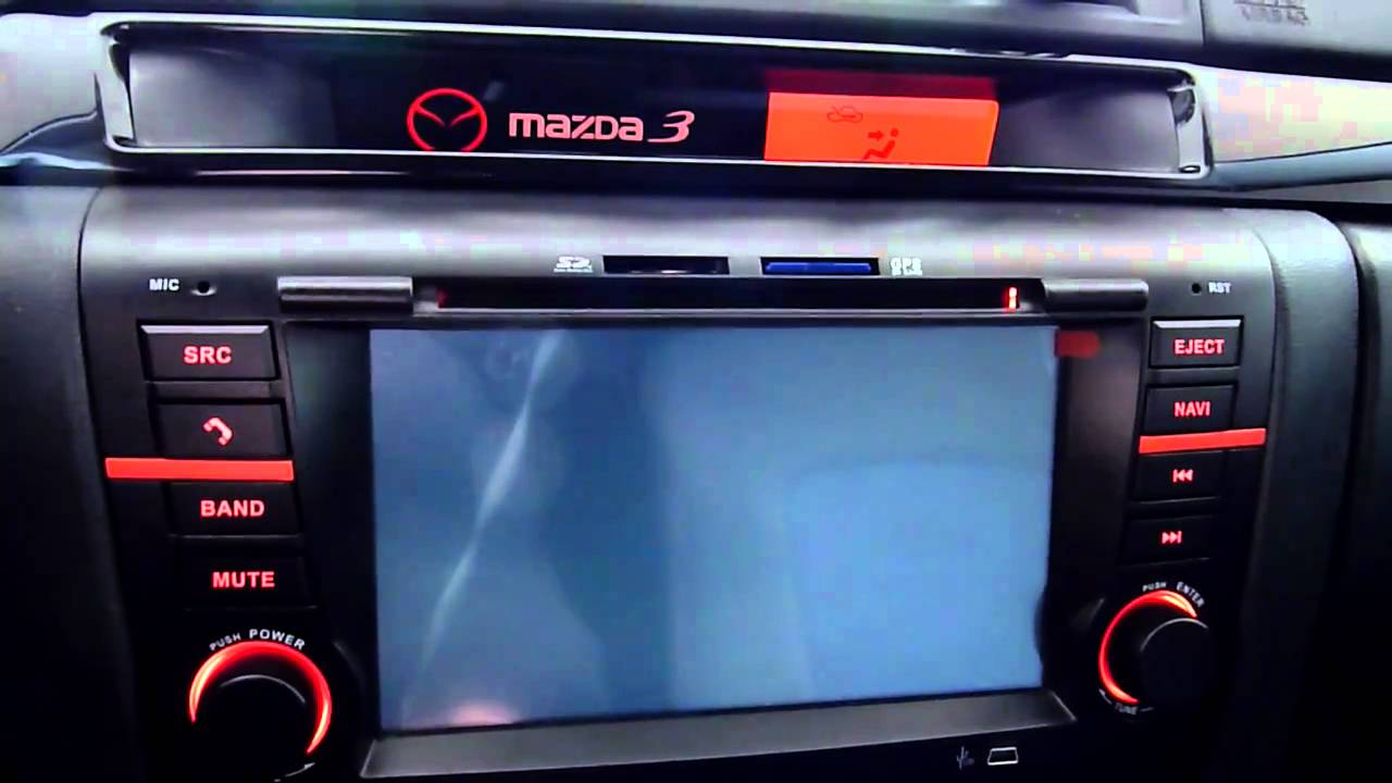 mazda 3 gps navigation youtube. Black Bedroom Furniture Sets. Home Design Ideas