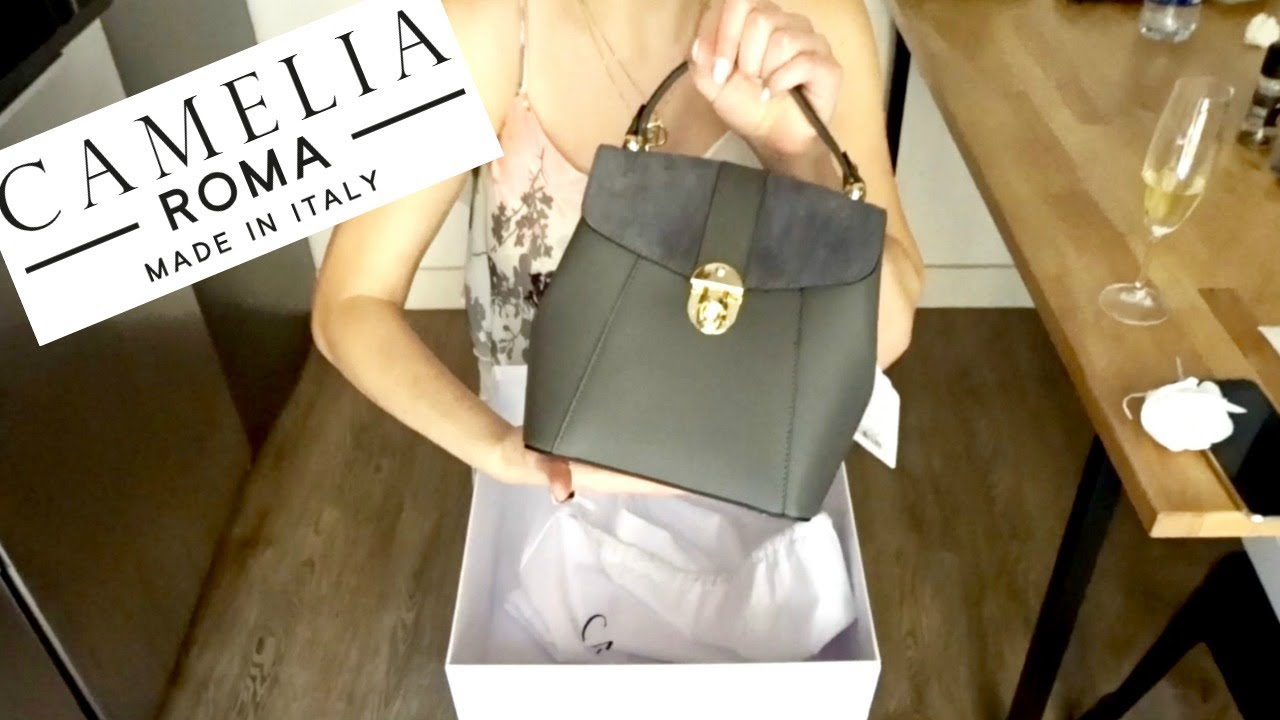 46a6507215ab Camelia Roma LEATHER AND SUEDE MINI BACKPACK UNBOXING - YouTube