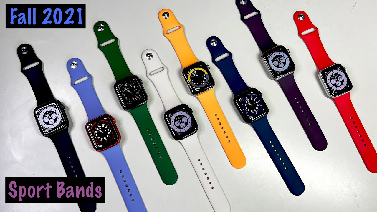 Download New Apple Watch Series 7 Sport Bands | Fall 2021 (ALL COLORS!) | [Hands-On Review]