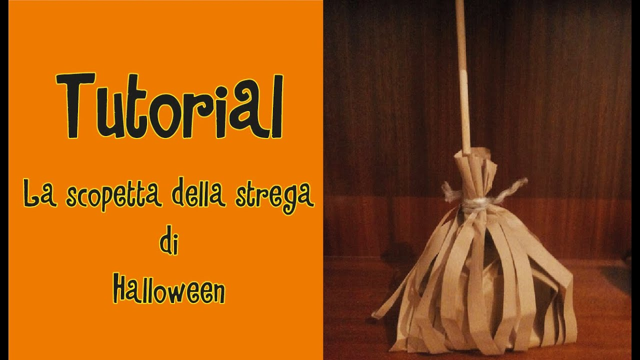 Tutorial-La scopetta della strega di HALLOWEEN - YouTube ce7c05ebf989