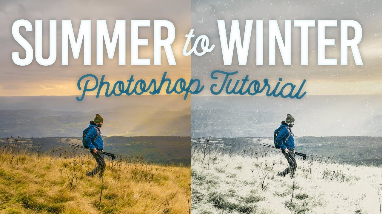 Download Photoshop Summer to Winter Tutorial with Snow Effect