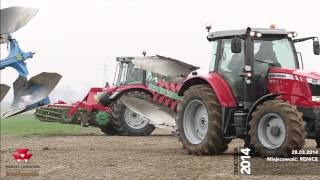 Pokazy polowe ciągniki Massey Ferguson i maszyny 2014 RENICE 28.03.2014