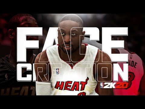 DWAYNE WADE FACE CREATION NBA 2K20! HOW TO BUILD D-WADE IN 2K20!!
