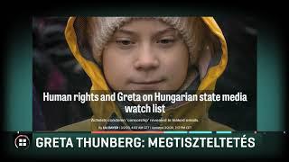 Greta Thunberg: Megtiszteltetés a magyar állami média tiltólistáján szerepelni 20-03-03