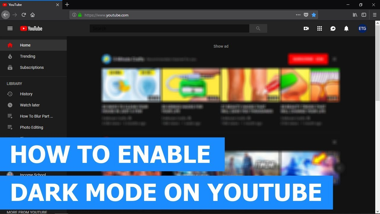 How to enable dark mode on YouTube on a PC in 2019 (step-by-step)