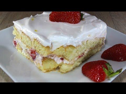 Млечна торта с бишкоти