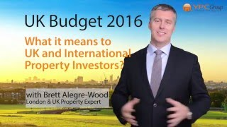 Investment News - UK Budget 2016 - A Property Investor's Perspective