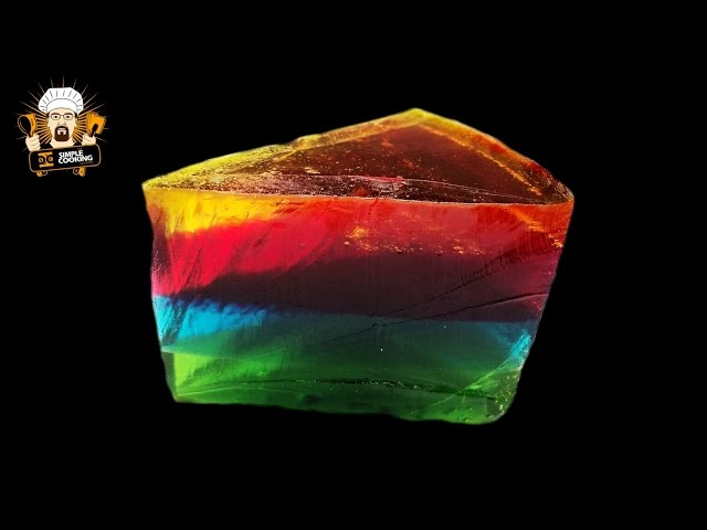 GIANT GUMMY RAINBOW CAKE Travel Video
