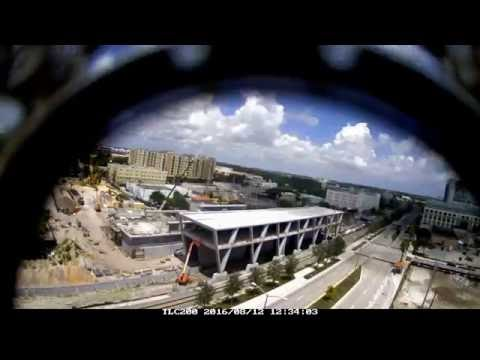 All Aboard Florida West Palm Beach Station Timelapse 8-8 through 8-14-16