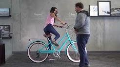 "EVRYjourney Women's Hybrid Touring Cruiser Bike Fitting - 5'10"" Rider Bike Sizing"