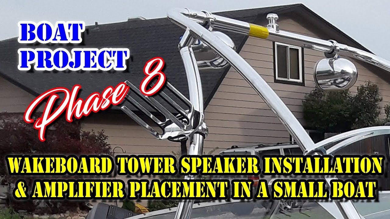 How to install Wakeboard Tower Speakers - DIY Marine Speakers amp stereo Wakeboard Tower Speaker Wiring Harness on