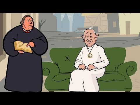 Martin Luther and Frank the Hippie Pope Talk James 2