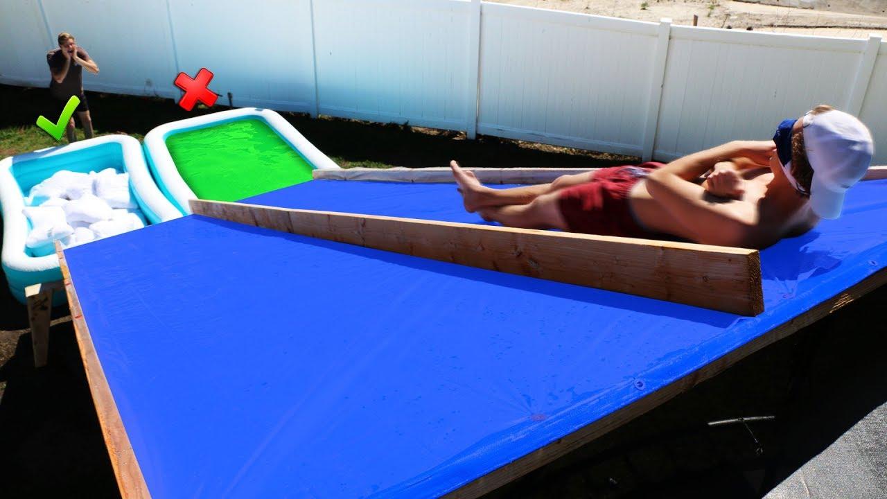 dont slide down the wrong mystery water slide gross. Black Bedroom Furniture Sets. Home Design Ideas