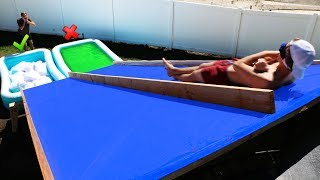 DONT Slide Down the Wrong Mystery Water Slide!! *GROSS POOL CHALLENGE *