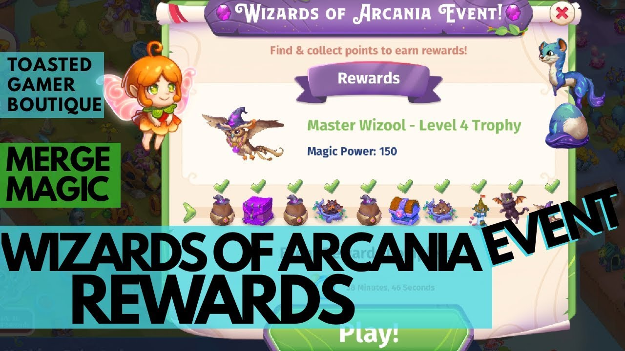 Merge Magic Wizards Of Arcania Event • Last 30 Minutes DOUBLE 3 REWARDS ☆☆☆