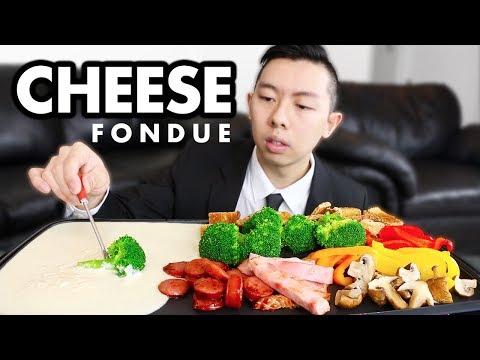 CHEESE FONDUE Mukbang (Valentine's Day MUKBANG) + STORYTIME | Mukbang Cheese Fondue Eating Show