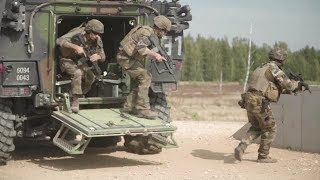 French Troops from NATO's EFP Battlegroup Estonia Train in Latvia