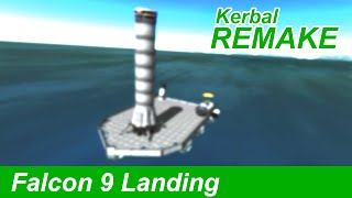 Falcon 9 Launch and Barge Landing in KSP