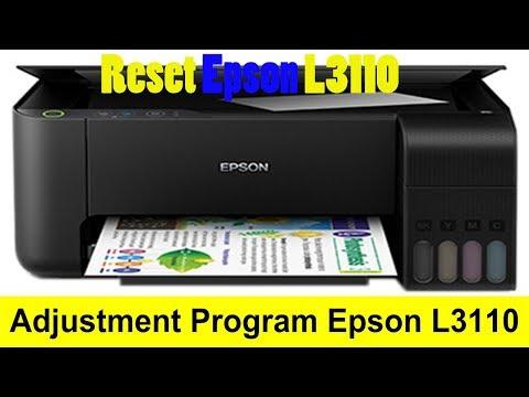 Reset service Epson L3110 Adjustment program - YouTube