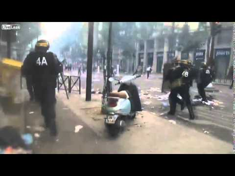 Muslims riot in Paris, France 2014