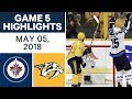 NHL Highlights | Jets vs. Predators, Game 5 - May 05, 2018