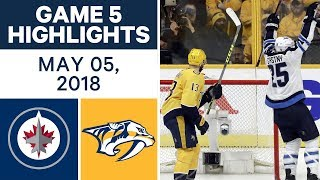 NHL Highlights | Jets vs. Predators, Game 5 - May 05, 2018