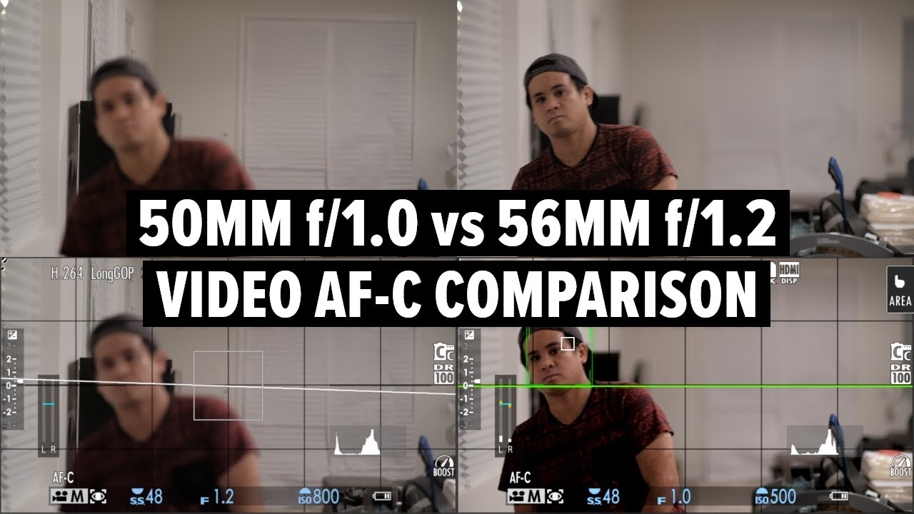 Fujifilm 50mm f1.0 vs 56mm f1.2: Video Autofocus Comparison