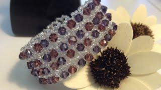 Spring Beading Contest | Elegant bracelet with Swarovski crystals. Элегантный браслет!(Дорогие друзья, в этом видео я покажу как можно сделать элегантный браслет с кристаллами Сваровски (бикону..., 2015-02-06T11:45:06.000Z)