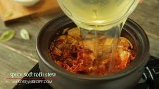 [korean Food] Spicy Soft Tofu Stew, Sundubu Jjigae, 순두부찌개