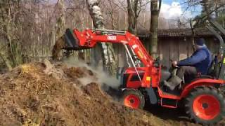 MIDOR WARSZAWA - traktorek KUBOTA B241 / TUR AGROMASZ Mrągowo vs. obornik